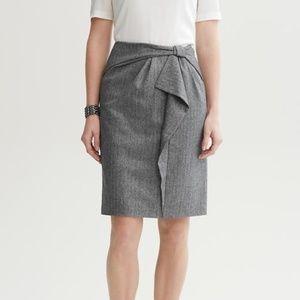 Banana Republic | Gray Wool Bow Pencil Skirt